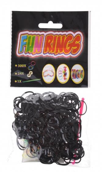 Amigo Fun Rings armband vlechten zwart 325 delig