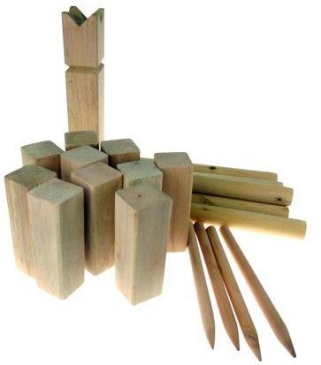 Amigo Houten kubbspel 25 cm hout blank