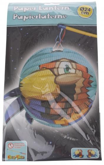 Eddy Toys lampion papegaai papier 24 cm