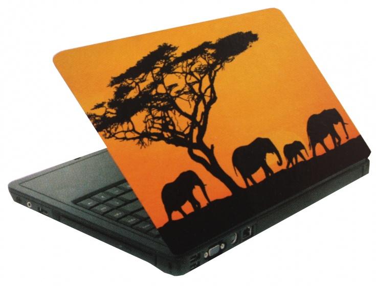 Amigo laptop sticker olifanten oranje/zwart