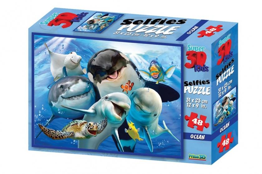 Amigo legpuzzel 3D Kids Oceaandieren 63 stukjes