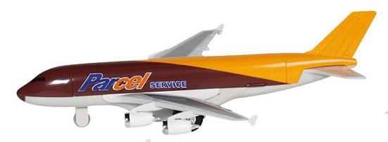 Amigo Metalen Vliegtuig: Bruin Met Oranje 19 cm