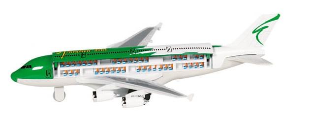 Amigo Metalen Vliegtuig: Groen Met Wit 19 cm