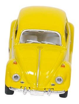 Welly Metalen Volkswagen Klassieke Kever 1967: Geel 6,5 cm