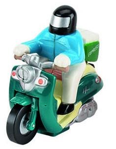 Tutti Frutti Opwindfiguur Scooter Man: 5,7 cm Groen