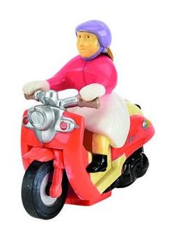 Tutti Frutti Opwindfiguur Scooter Vrouw: 5,7 cm Oranje