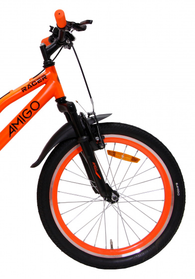 20 Pouces VTT Tout Suspendu AMIGO Racer Orange
