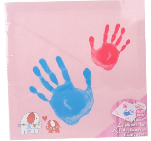 Amigo Schilderen op Canvas hardprint 25 x 25 x 1.8 cm roze
