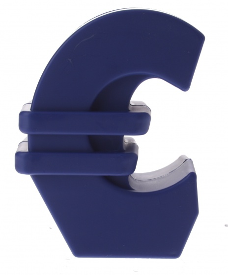 Amigo spaarpot euro blauw 12 cm