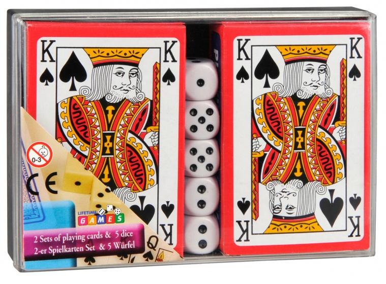 Amigo speelkaarten met dobbelstenen 7 delig