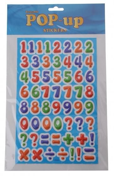 Amigo stickervel cijfers 64 delig