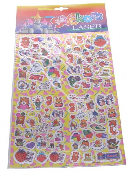 Amigo Stickervel hartjes 19 x 30 cm