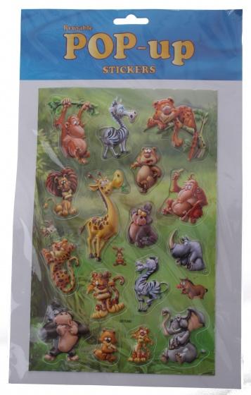 Amigo stickervel jungle dieren 16 delig