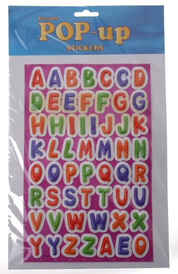Amigo stickervel letters 63 delig