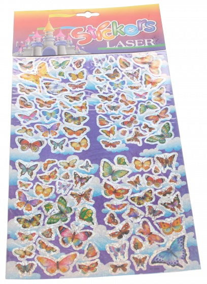 Amigo Stickervel vlinders 19 x 30 cm
