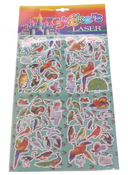 Amigo Stickervel vogels 19 x 30 cm