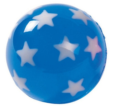 Amigo Stuiterbal Sterren: 45 mm Blauw