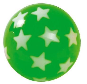 Amigo Stuiterbal Sterren: 45 mm Groen