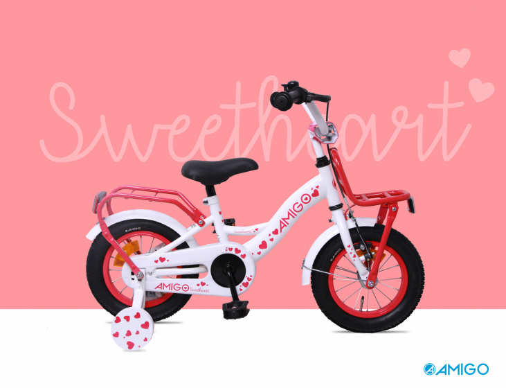 Sweetheart 14 Inch 21,5 cm Girls Coaster Brake White