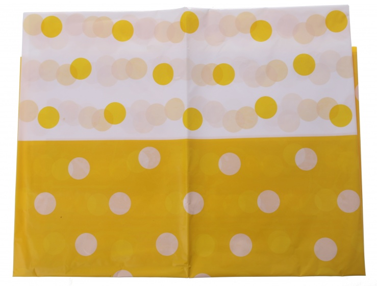 Amigo tafelkleed geel gestipt 130 x 180 cm