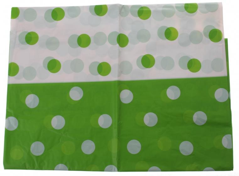 Amigo tafelkleed groen gestipt 130 x 180 cm