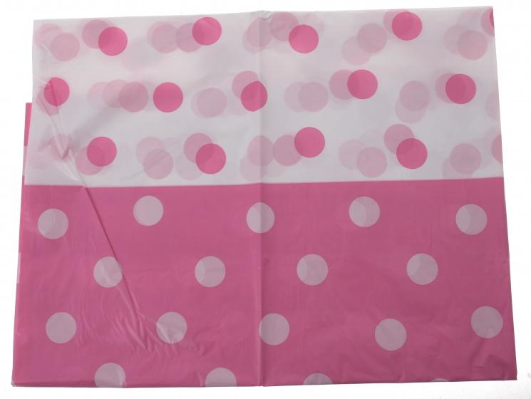 TOM tafelkleed roze gestipt 130 x 180 cm