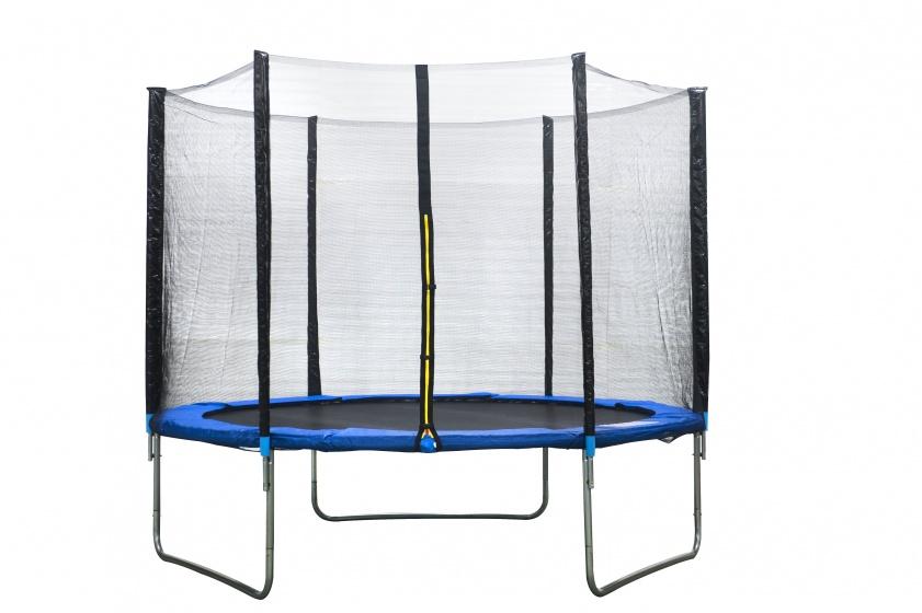 AMIGO trampoline met veiligheidsnet blauw 244 cm
