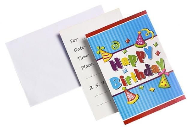 Eddy Toys Uitnodiging Happy Birthday 9 x 14 cm 12 stuks