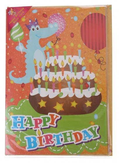 Amigo verjaardagskaart met geluid krokodil 20 cm