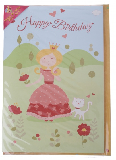 Amigo verjaardagskaart met geluid prinses 20 cm