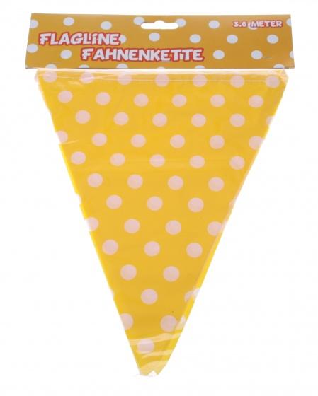 Amigo vlaggenlijn 360 cm geel