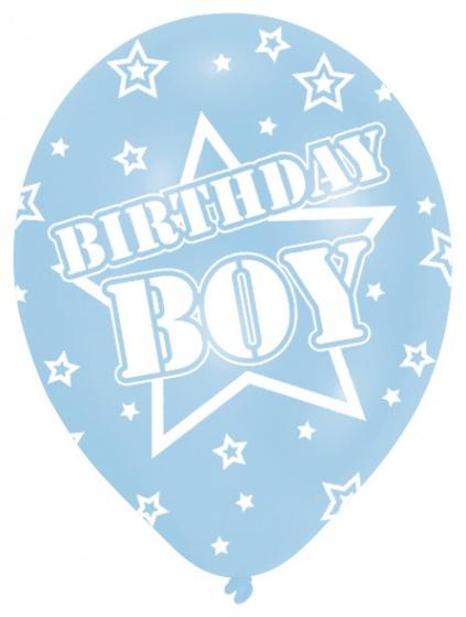 6 Ballone Birthday Boy blau