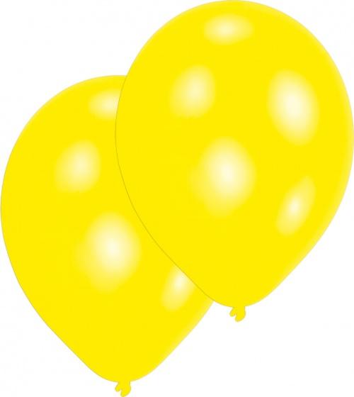 Amscan ballonnen geel 10 stuks 28 cm
