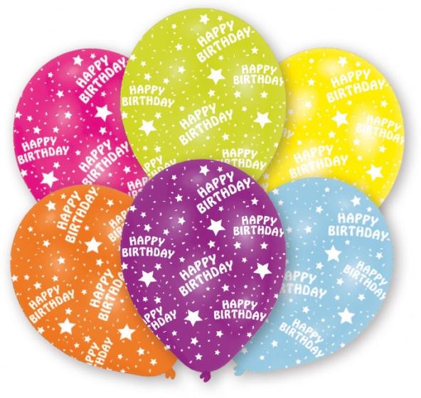 6 Ballone Happy Birthday ass.