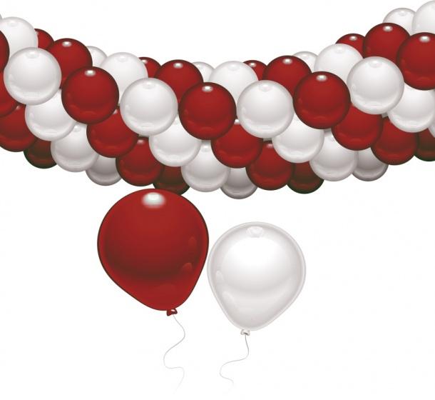 Rood-witte decoratieset