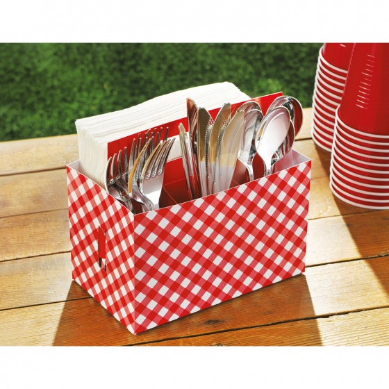 Amscan bestekhouder Picknick Party 19 x 11,4 x 17,7 cm