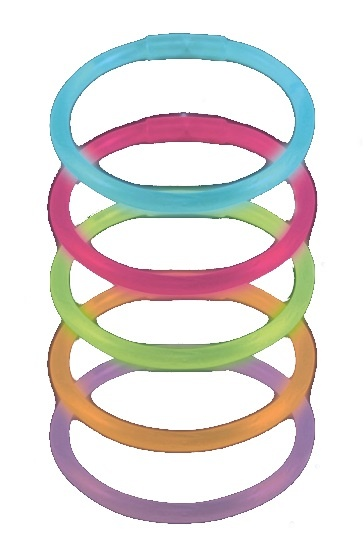 Amscan glowsticks armbanden 20cm 25 stuks