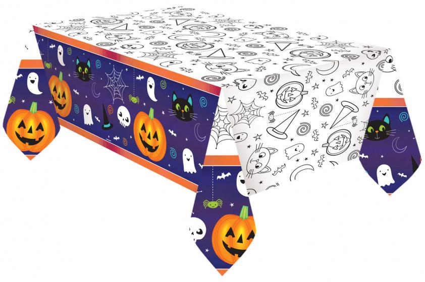 Ucradle 2er Pack Halloween Bloody Tischdecke Halloween Tischdecke Scary Bloody Tischdecke 130 x 260CM Bloody Footprint Rechteckige Tischdecke f/ür Halloween Party Dekoration
