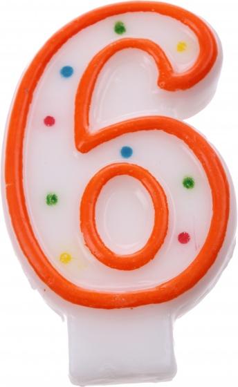 Amscan verjaardagskaars nummer 6 oranje