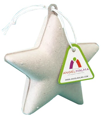 Angel Malma knutselset kerst ster unisex wit