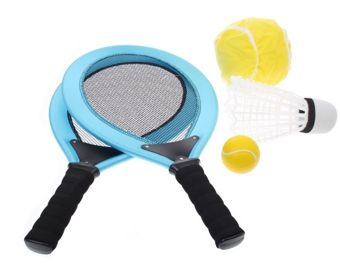 Angel Sports Racketset 2 Spelers Lichtblauw