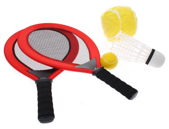 Angel Sports Racketset 2 Spelers Rood