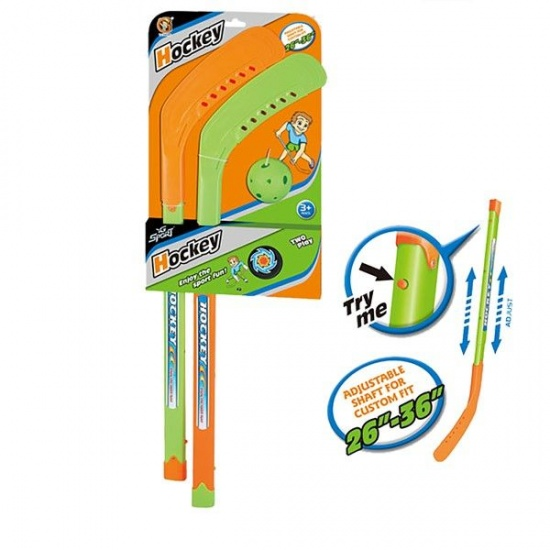 Angel Sports street hockeyset set 3 delig groen/oranje