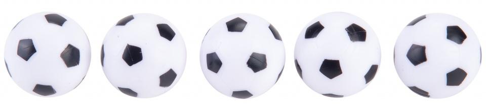 Angel Sports Tafelvoetbalballetjes Zwart Wit 5 Stuks
