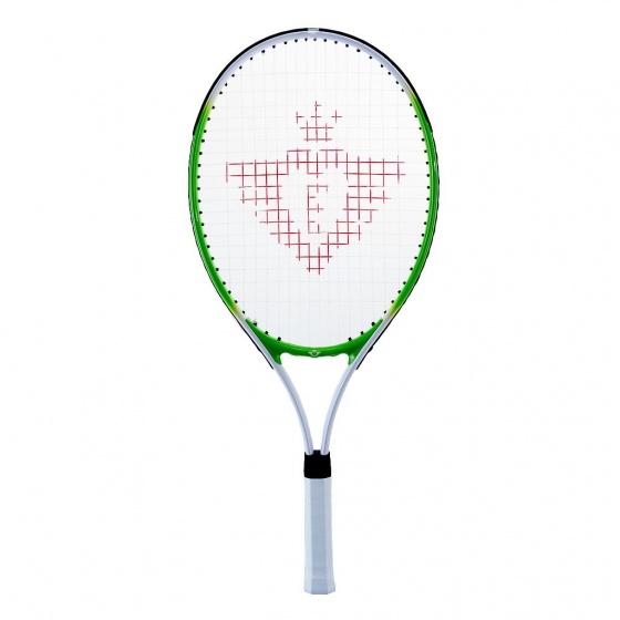Tennisracket 27 groen met hoes