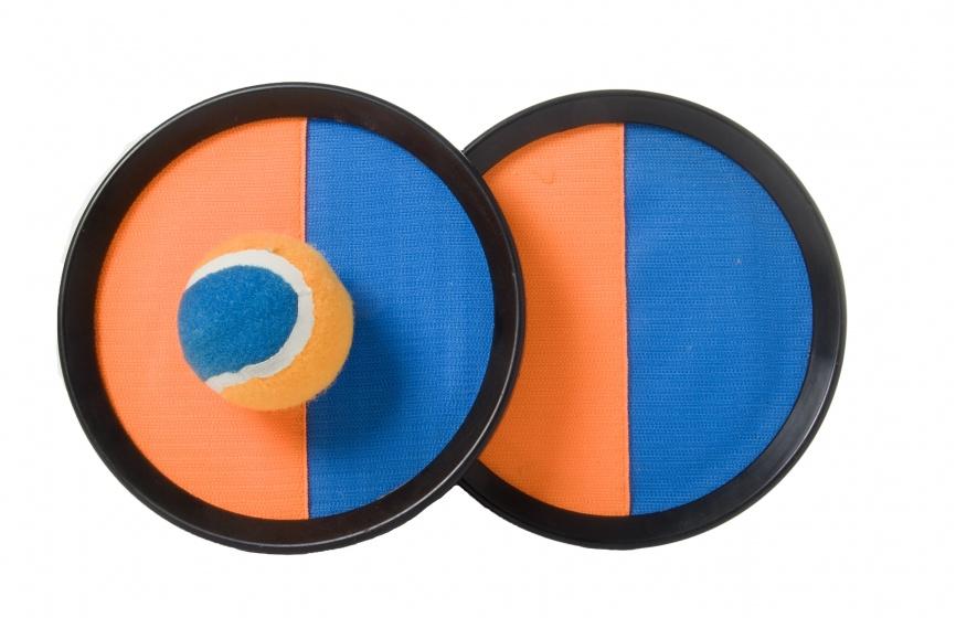 Angel Toys vangspel klittenband oranje blauw 20 cm