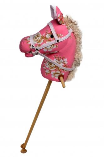 Angel Toys Houten Stokpaardje Met Geluid Bloemen