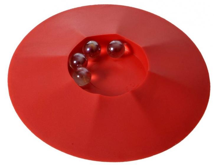 Angel Toys Knikkerpot met knikkers 17 cm rood