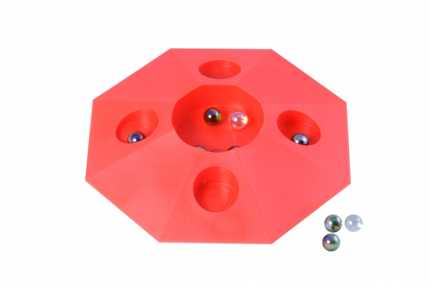Angel Toys knikkerpot met knikkers 22 cm rood