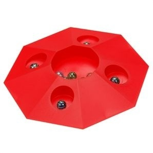 Angel Toys Knikkerpot Super 22cm Rood Inclusief 10 Knikkers